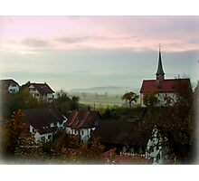 Misty Morning in Oberstammheim Photographic Print