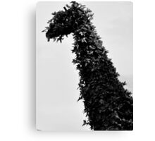 giraffe topiary Canvas Print