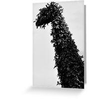 giraffe topiary Greeting Card