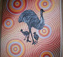 Emu walk-about by Derek Trayner