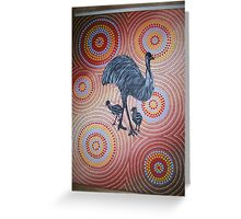 Emu walk-about Greeting Card