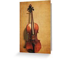 Violin Solo Greeting Card