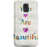 Uplifting Art - You Are Beautiful by Sharon Cummings Samsung Galaxy Case/Skin