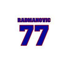 Basketball player Vladimir Radmanovic jersey 77 Photographic Print