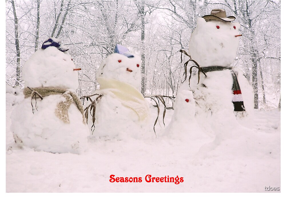 Snowmen greeting card by tdoes