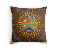 Invite to the sporting world Throw Pillow