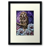 Owl & Moon Magic! Framed Print