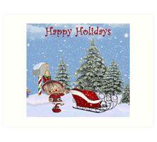 Still Searching For Santa Art Print