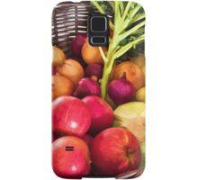 Organic healthy vegetables and fruits digital art Samsung Galaxy Case/Skin