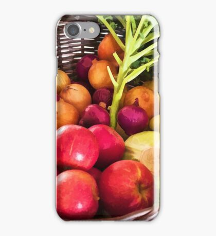 Organic healthy vegetables and fruits digital art iPhone Case/Skin