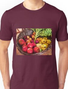Organic healthy vegetables and fruits digital art Unisex T-Shirt