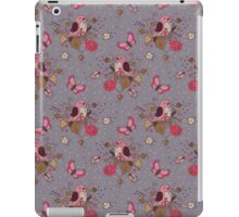 Bird Butterfly Floral Pattern. iPad Case/Skin