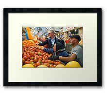 "Selection! - ""Machaneh Yehuda"" market,  Jerusalem, Israel Framed Print"