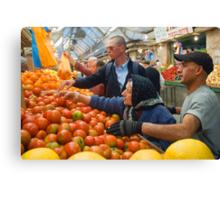 """Selection! - """"Machaneh Yehuda"""" market,  Jerusalem, Israel Canvas Print"""