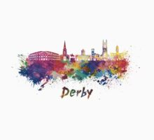 Derby skyline in watercolor Kids Clothes