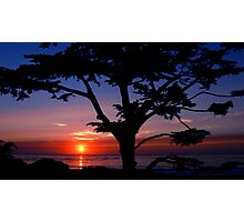 #243    Sunset From Scenic Photographic Print