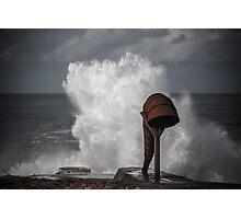 White wave splash Photographic Print