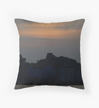 Silhouetted Hills Throw Pillow