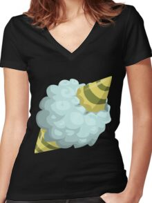 Glitch Wardrobia mental item 22 w1 Women's Fitted V-Neck T-Shirt
