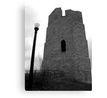 Water Tower BW Canvas Print
