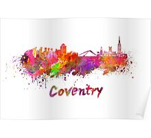 Coventry skyline in watercolor Poster