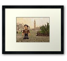 Dr Who at Big Ben Framed Print