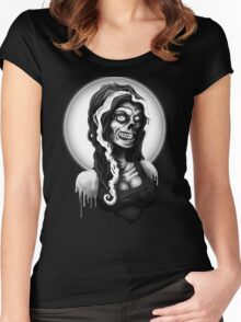 Miss Malaise - Dead Moon Women's Fitted Scoop T-Shirt