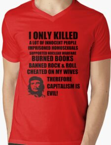 Anti-Che Guevara Mens V-Neck T-Shirt