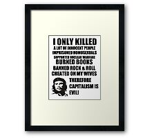 Anti-Che Guevara Framed Print