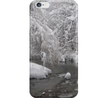 Freezing river, blanketed in snow iPhone Case/Skin