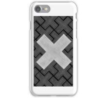 Big Cross in Crosses , White-Black iPhone Case/Skin