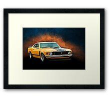 Orange 1970 Boss 302 Mustang Framed Print