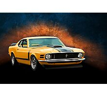 Orange 1970 Boss 302 Mustang Photographic Print