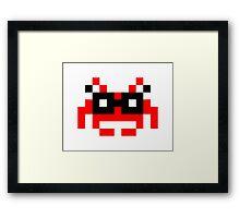 Hipster Space Invader Framed Print