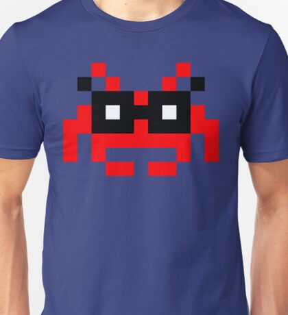 Hipster Space Invader Unisex T-Shirt