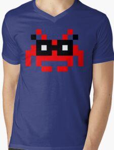 Hipster Space Invader Mens V-Neck T-Shirt