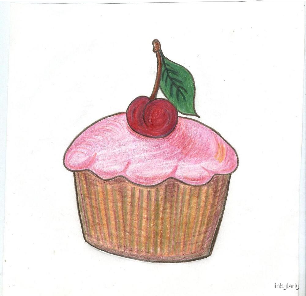 cherry cake  by inkylady