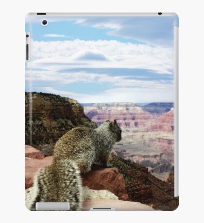 Squirrel Overlooking Grand Canyon iPad Case/Skin