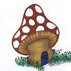 mushroom house by inkylady