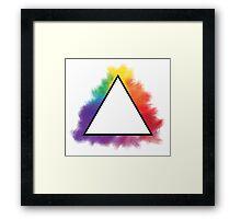 Rainbow Triangle Framed Print