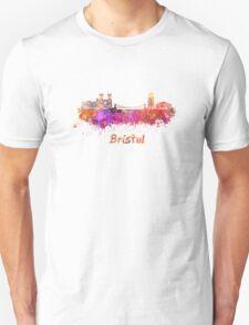 Bristol skyline in watercolor T-Shirt