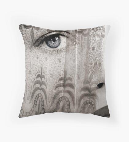 Curtain Tattoo Throw Pillow