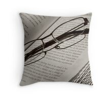 reading a classy book Throw Pillow