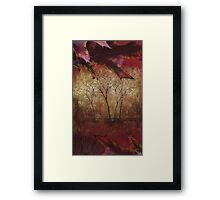 Fall Trees at the Cabin Fine Art Painting Framed Print