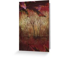 Fall Trees at the Cabin Fine Art Painting Greeting Card