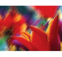 Orange Tulips Abstract Painting Photographic Print