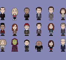 New Who Doctors and Companions (case/skin) by redscharlach
