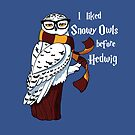 Harry Potter Inspired Hipster Owl by Stephanie Jayne Whitcomb