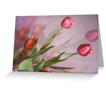 Tulips fantasy Greeting Card