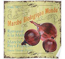 Marche Biologique Monde Poster